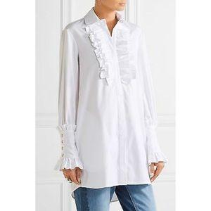 Caroline Constas tuxedo poplin shirt. Small size